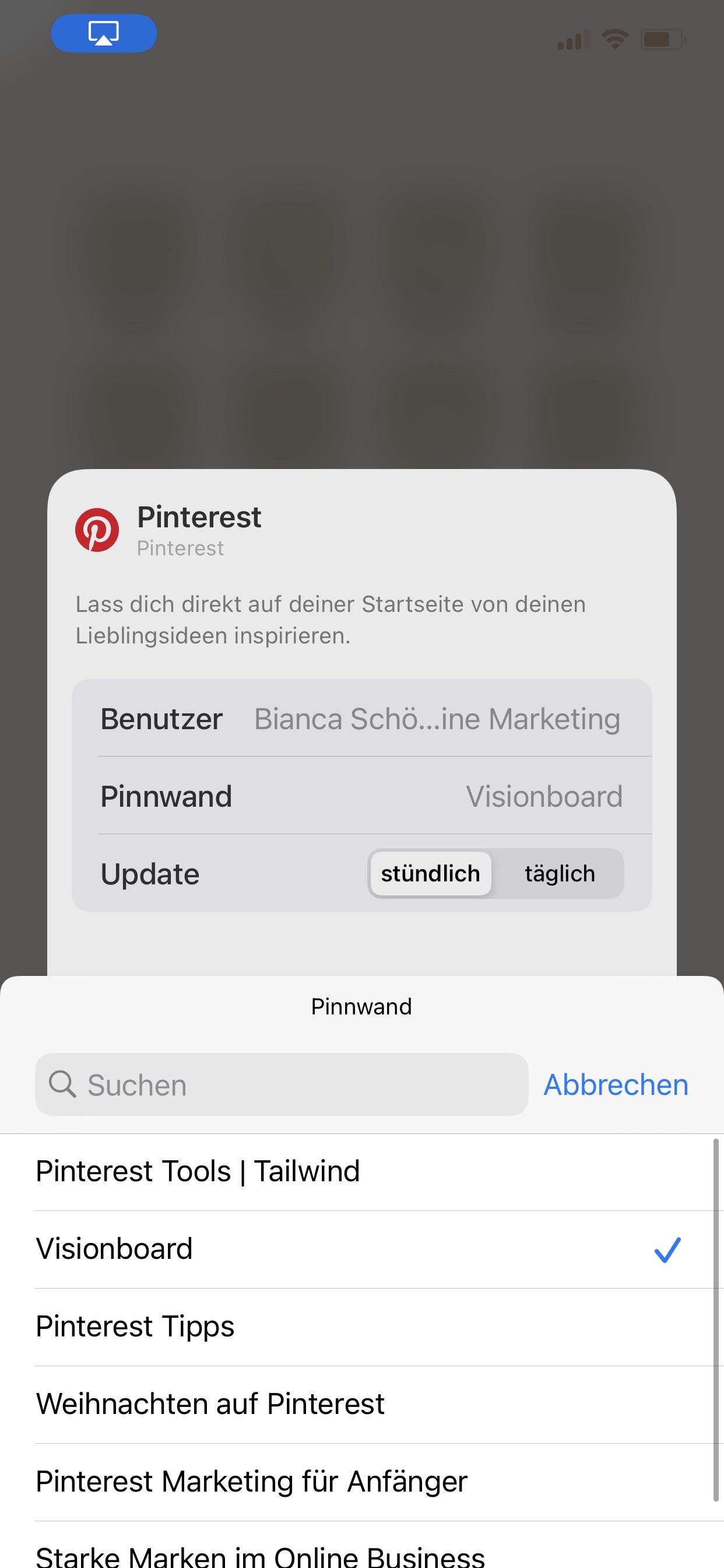 Visionboard für iOS14